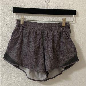 Gray lululemon shorts
